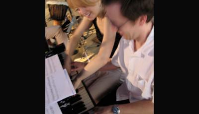 w/ Maria Schneider in Peru, Jazz en Lima Festival 2004