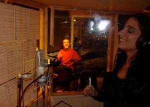 Recording GK's Grammy-nominated CD 'AUREA' Sofia Rei Koutsovitis & GK